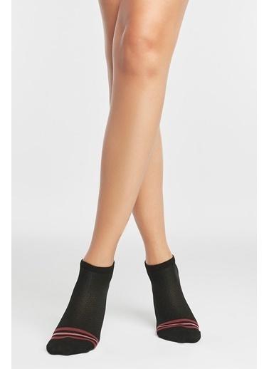 Penti Active Örgüm Patik Çorap Siyah